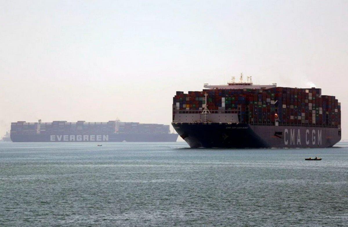Süveyş Kanalı nı tıkayan  Ever Given  Mısır'dan ayrılıyor #1