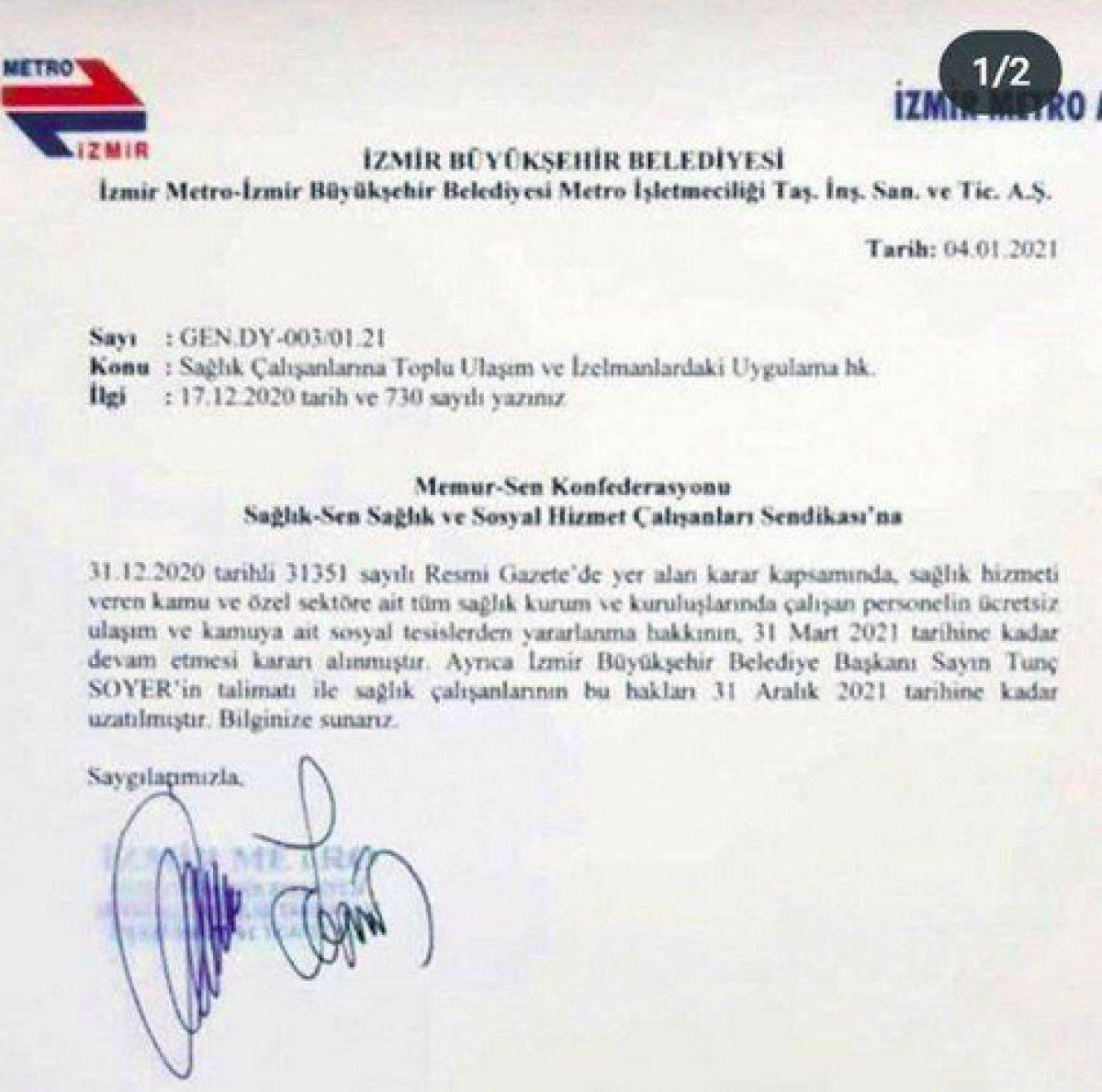 Tunç Soyer: Sağlık çalışanlarına ücretsiz ulaşımı sehven imzaladım #2