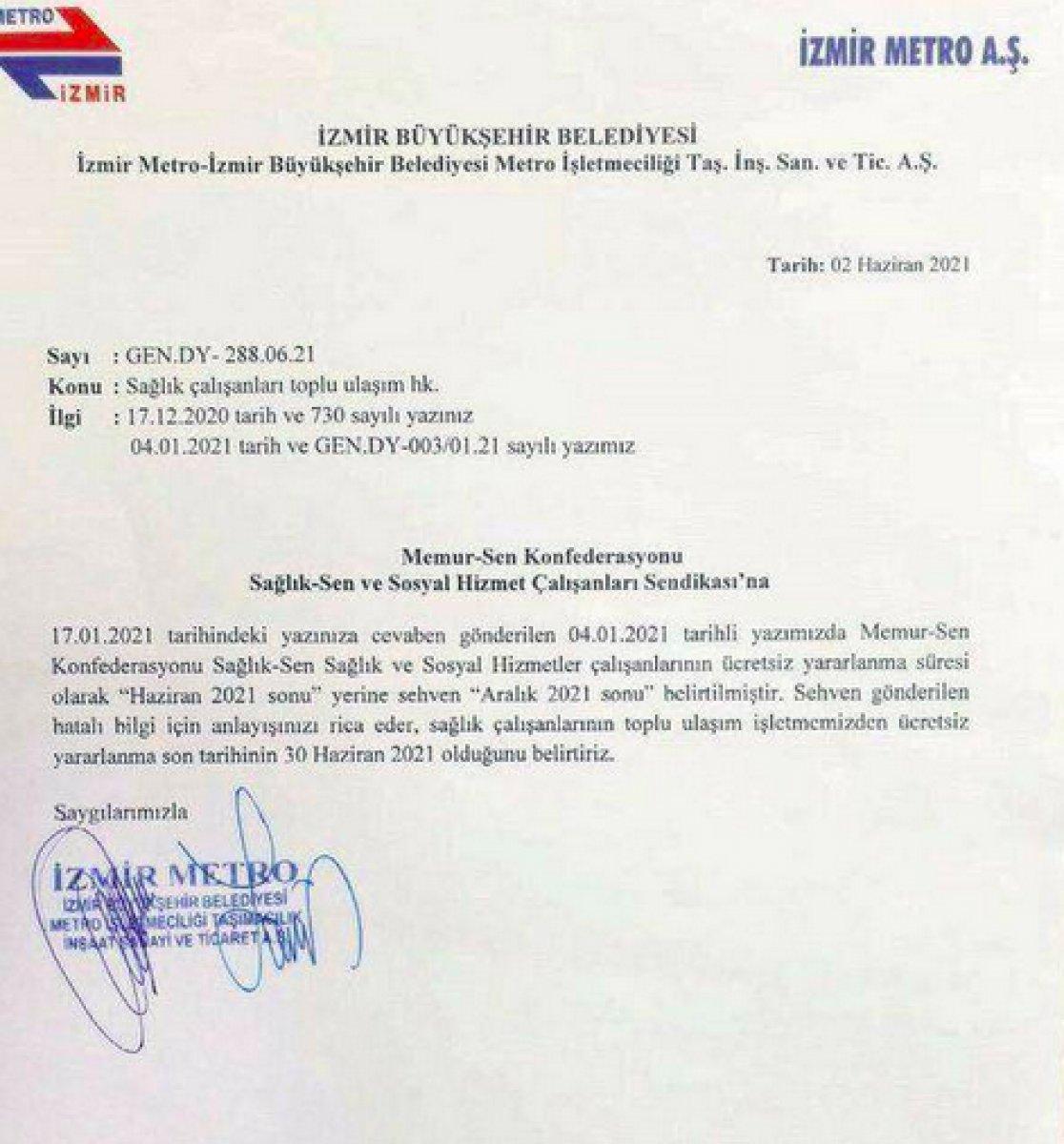 Tunç Soyer: Sağlık çalışanlarına ücretsiz ulaşımı sehven imzaladım #3