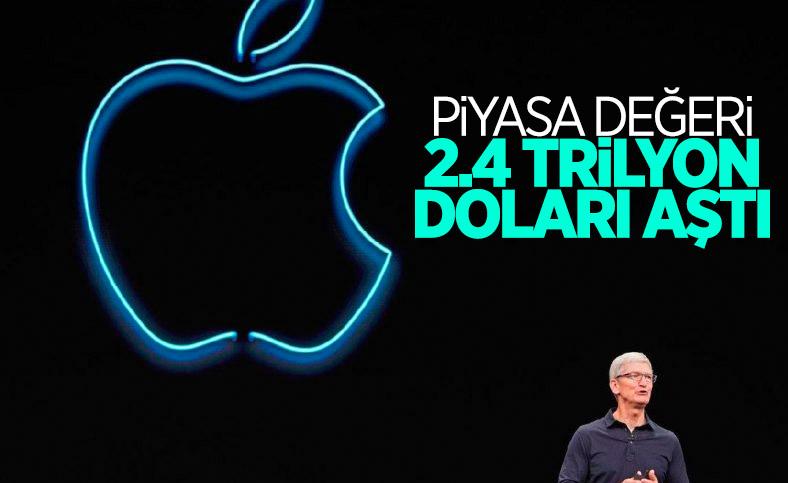 Apple'ın piyasa değeri 2,4 trilyon doları aştı