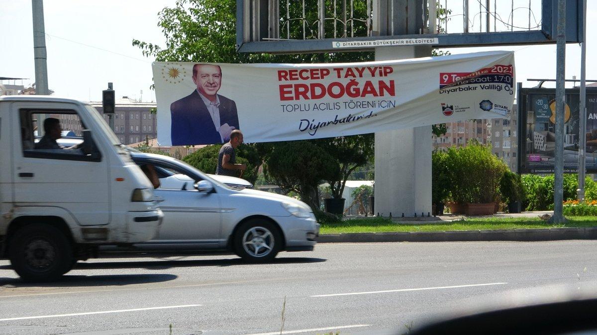 Diyarbakır Cumhurbaşkanı nı karşılamaya hazır #1