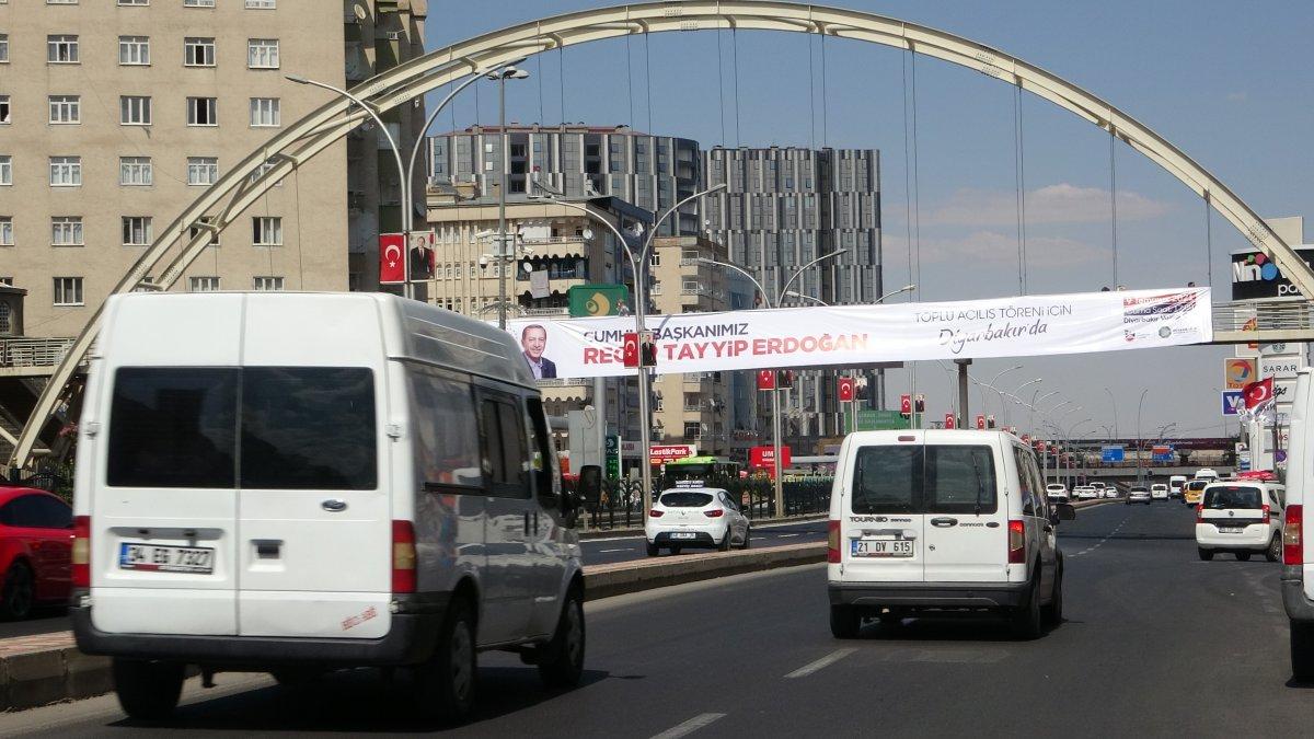 Diyarbakır Cumhurbaşkanı nı karşılamaya hazır #3