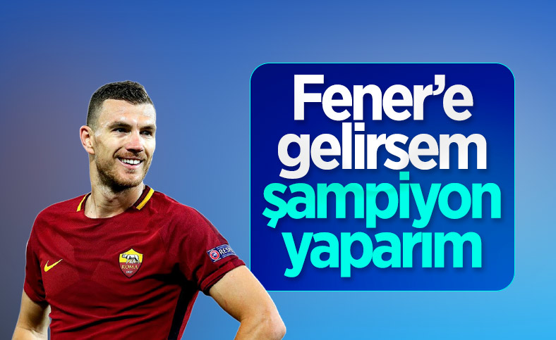 Edin Dzeko: Fenerbahçe'ye gelirsem şampiyon yaparım