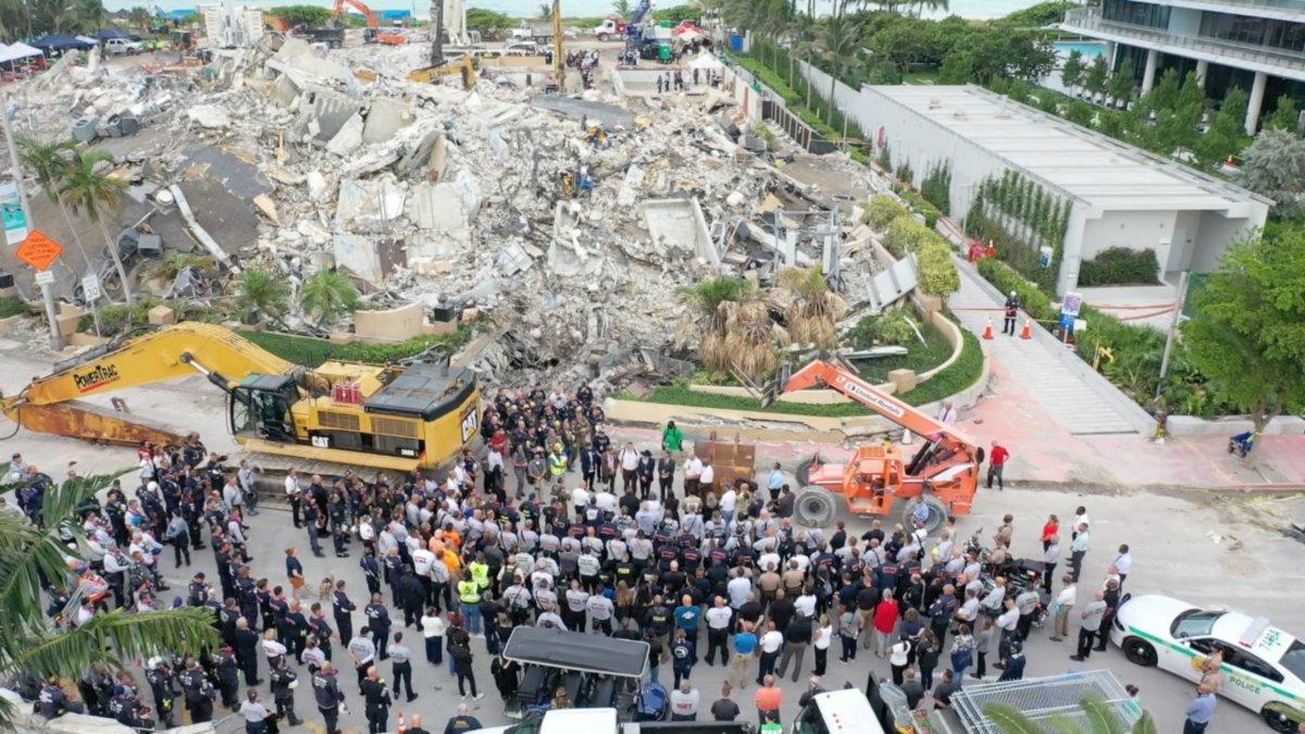 Miami de çöken 13 katlı binanın enkazında hayat ümidi kesildi #5