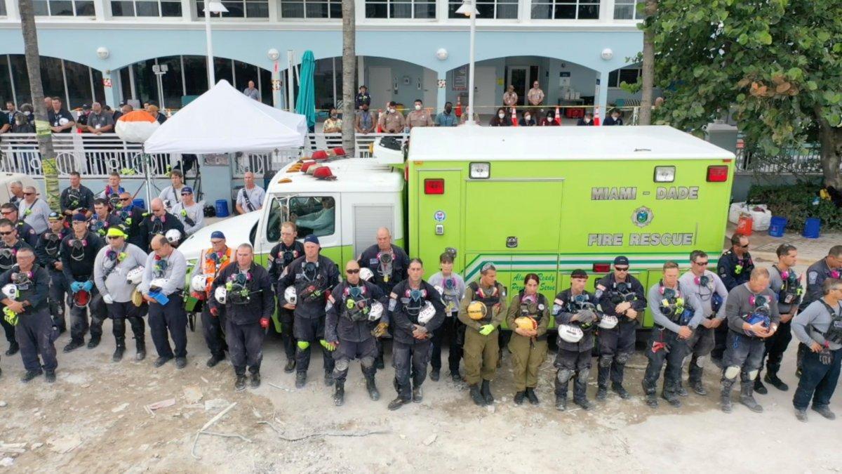 Miami de çöken 13 katlı binanın enkazında hayat ümidi kesildi #7