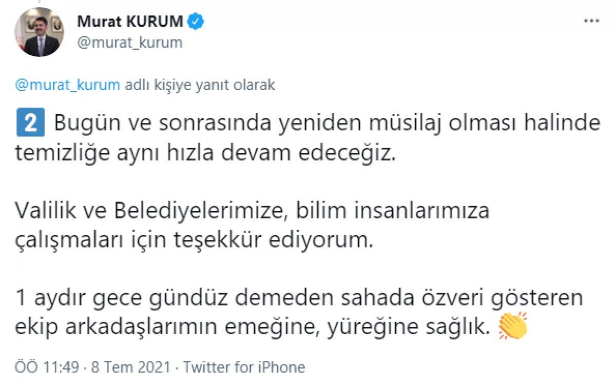 Murat Kurum: Denizimizde toplanacak miktarda müsilaj kalmadı #4