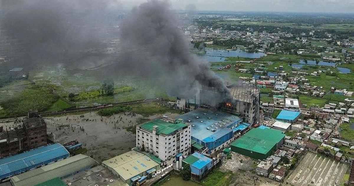 Bangladeş te gıda fabrikasında yangın: Çok sayıda ölü var #4