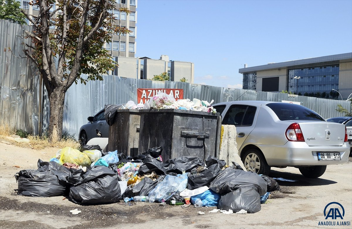 Ankara Çankaya da çöp krizi #4