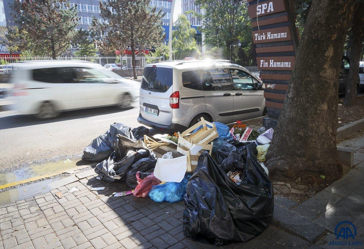 Ankara Çankaya da çöp krizi #3