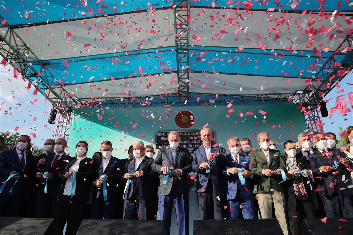 Cumhurbaşkanı Erdoğan, Diyarbakır da tamamlanan tesislerin açılış törenine katıldı #1