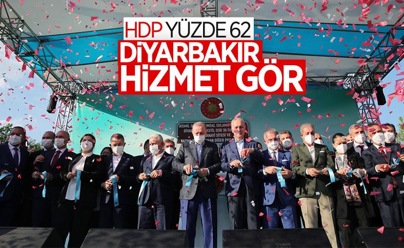 Cumhurbaşkanı Erdoğan, Diyarbakır'da tamamlanan tesislerin açılış törenine katıldı