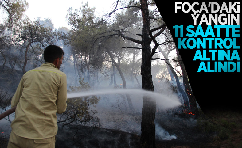 İzmir Foça'da orman yangını kontrol altına alındı