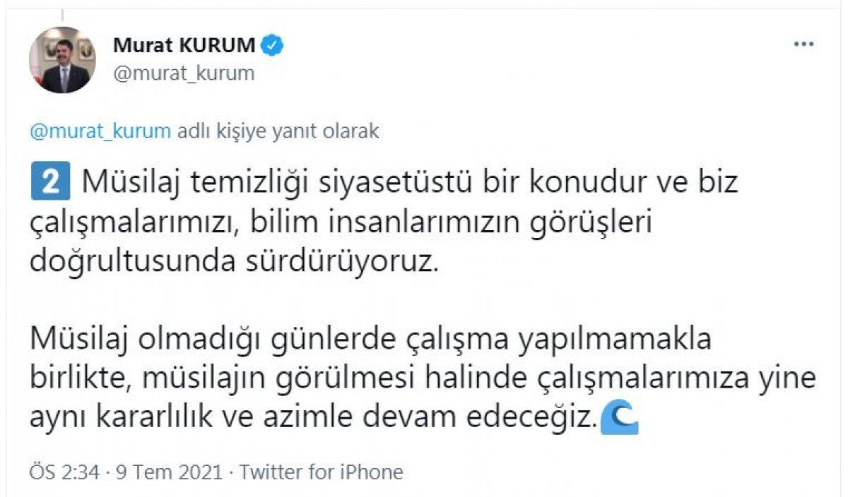 Murat Kurum: Toplanacak müsilaj kalmadığı için temizlik yapılmadı #2