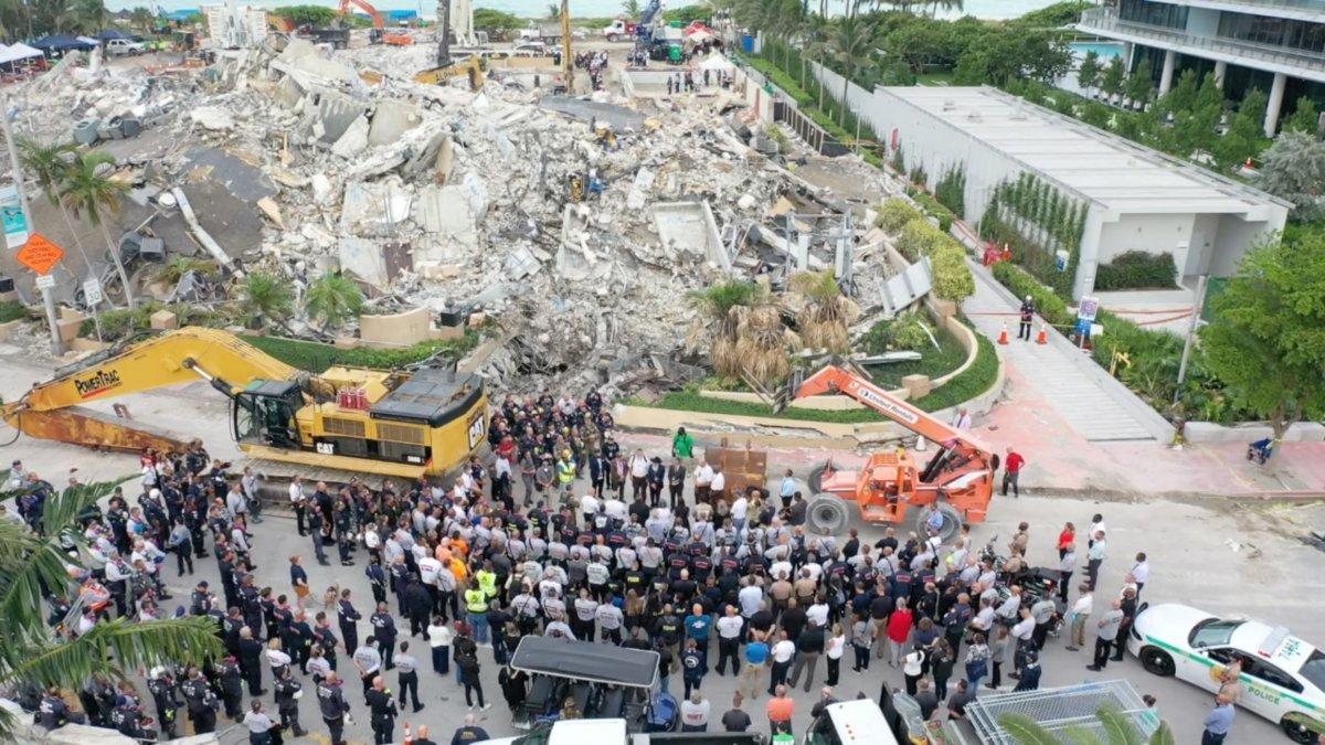 Miami de çöken 13 katlı binada ölü sayısı 60 a çıktı #1