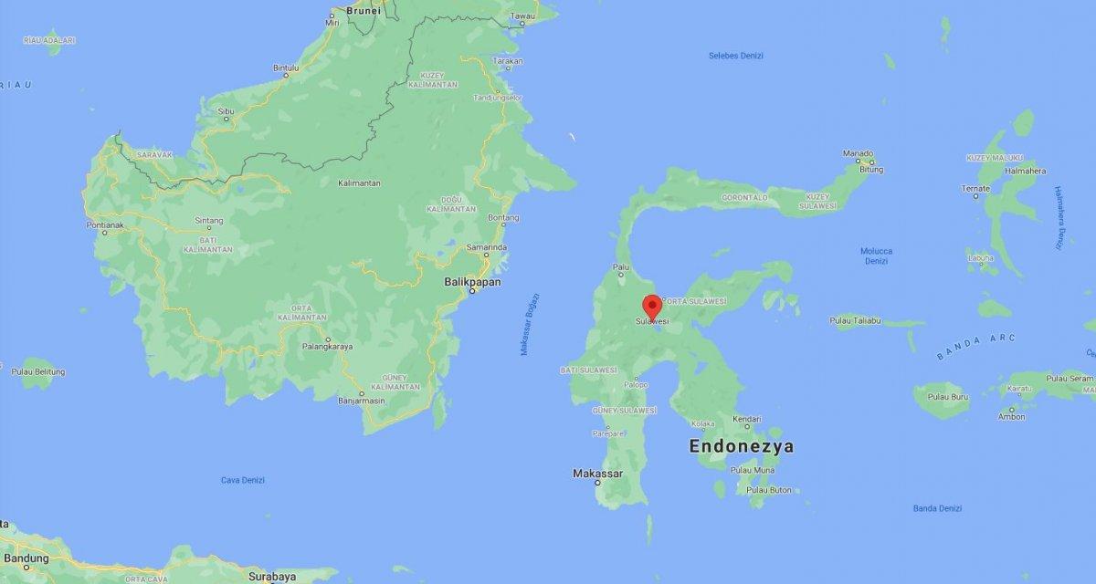 Endonezya nın Sulawesi Adası nda deprem #1