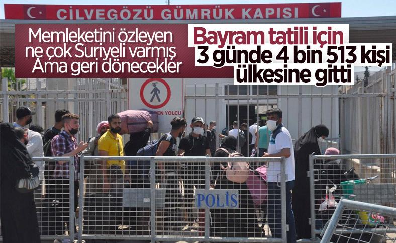 Türkiye'den 4 bin 513 Suriyeli bayram tatili için ülkesine gitti