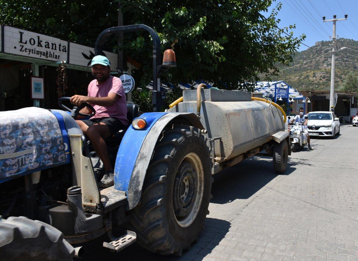 Marmaris te su sorununa vatandaş isyan etti #9