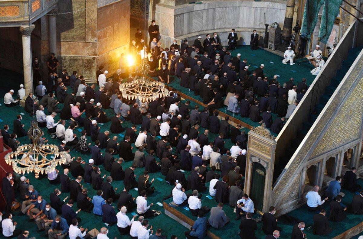 Ayasofya nın ibadete açılmasına ilişkin kararın üzerinden bir yıl geçti #7
