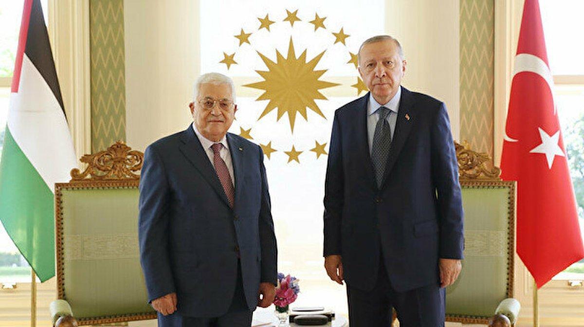 Cumhurbaşkanı Erdoğan, Filistin Devlet Başkanı Abbas ı kabul etti  #2
