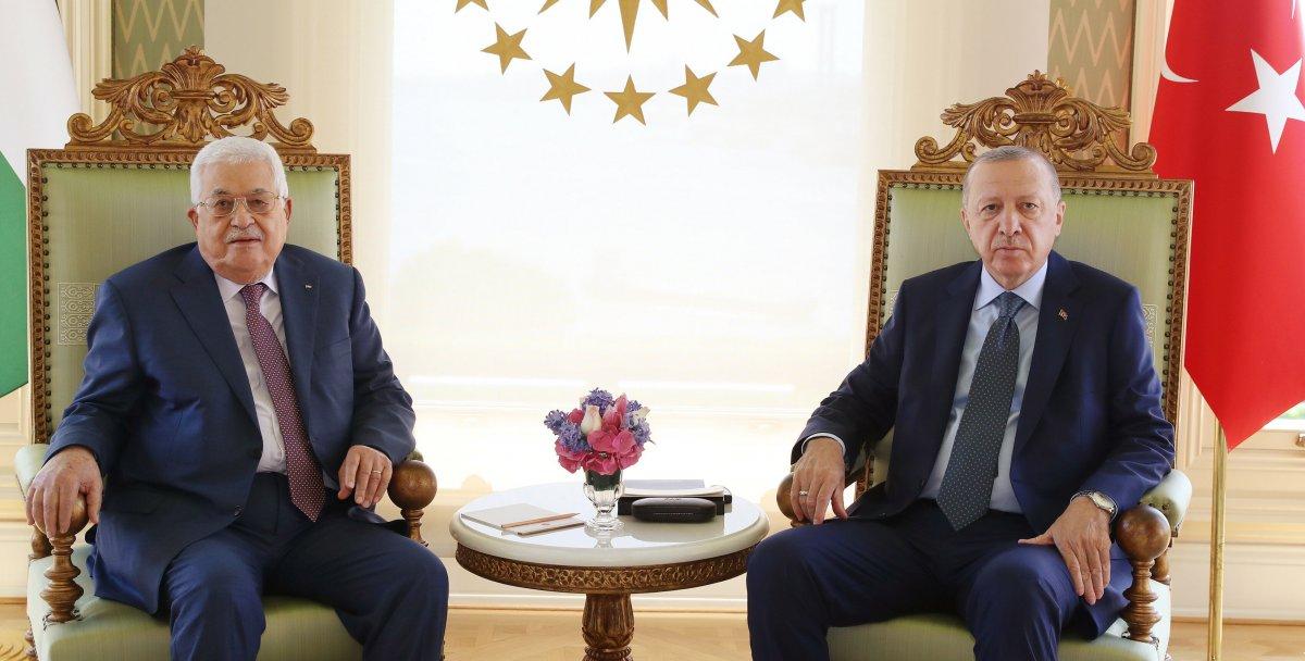 Cumhurbaşkanı Erdoğan, Filistin Devlet Başkanı Abbas ı kabul etti  #1