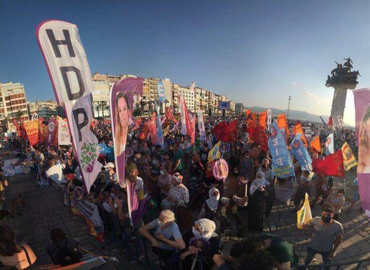 HDP nin İzmir mitingine CHP İl Başkanlığı tam kadro katıldı #3
