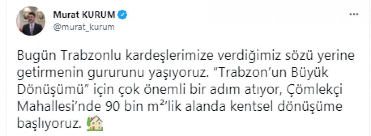Murat Kurum dan Trabzon a kentsel dönüşüm müjdesi #5