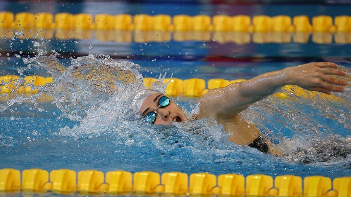 Milli yüzücü Merve Tuncel, gençlerde yine rekorla Avrupa şampiyonu #1