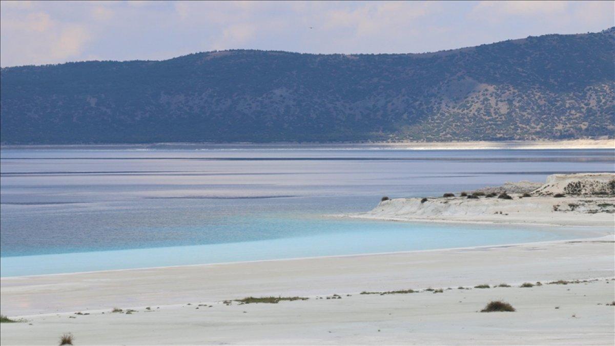 Salda Gölü ndeki Beyaz Adalar, doğal görünümüne kavuştu #2
