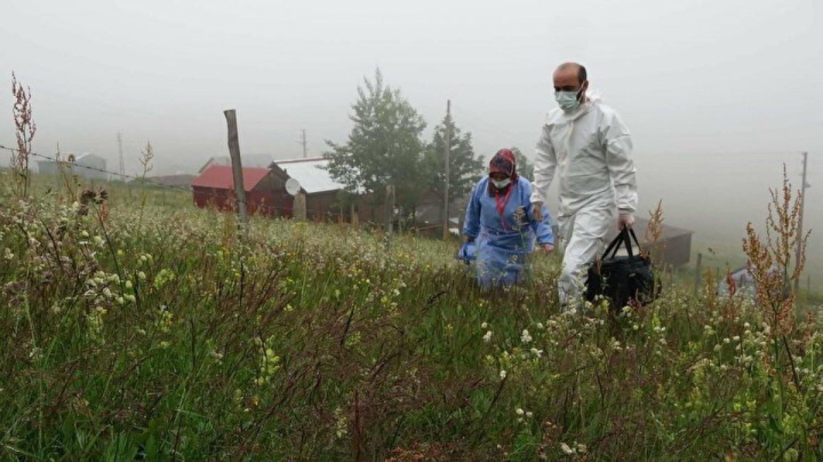 Karadeniz de aşı mesaisi: Sağlık çalışanları 1800 metreye çıktı  #9