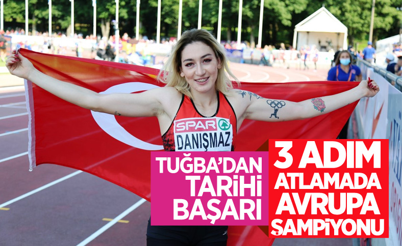 23 yaş altında Milli atlet Tuğba Danışmaz Avrupa şampiyonu