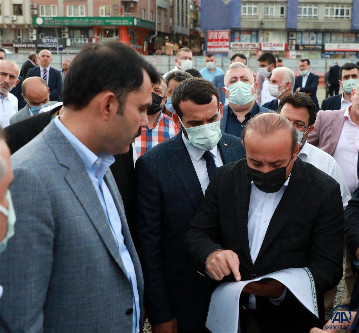 Murat Kurum, Rize de devam eden kentsel dönüşüm çalışmalarını değerlendirdi #1
