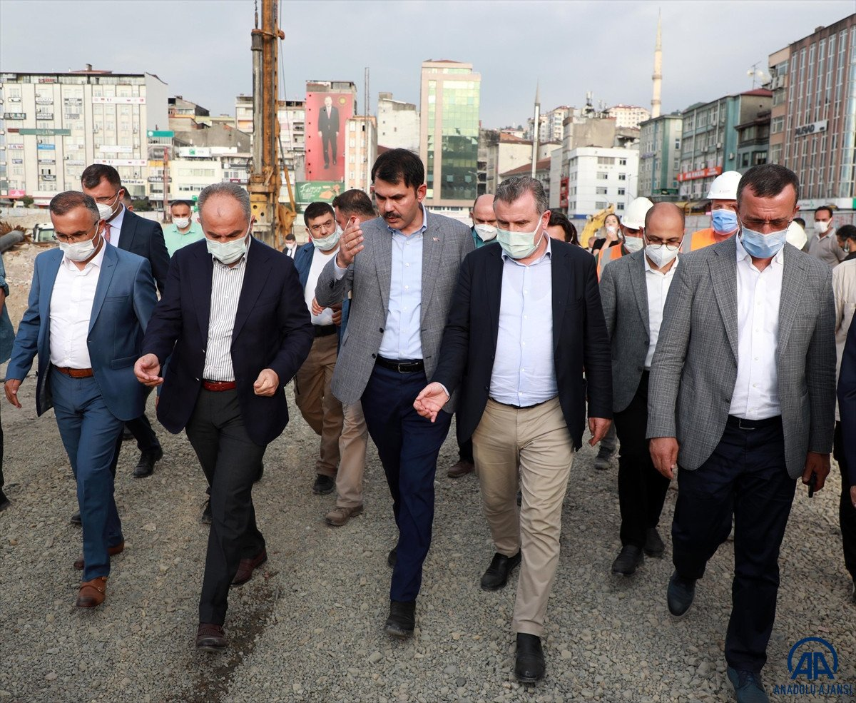 Murat Kurum, Rize de devam eden kentsel dönüşüm çalışmalarını değerlendirdi #3