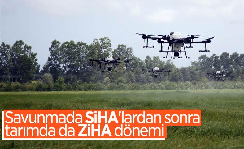 Türkiye'de ilk kez ZİHA'larla çoklu uçuş ilaçlama denemesi yapıldı