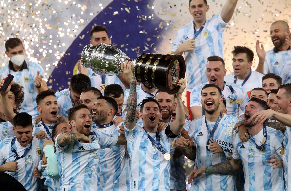 Brezilya yı yenen Arjantin, Kupa Amerika yı kazandı #2