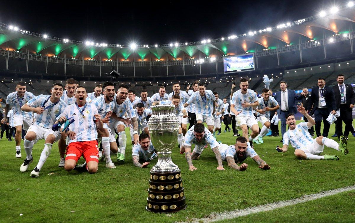 Brezilya yı yenen Arjantin, Kupa Amerika yı kazandı #10