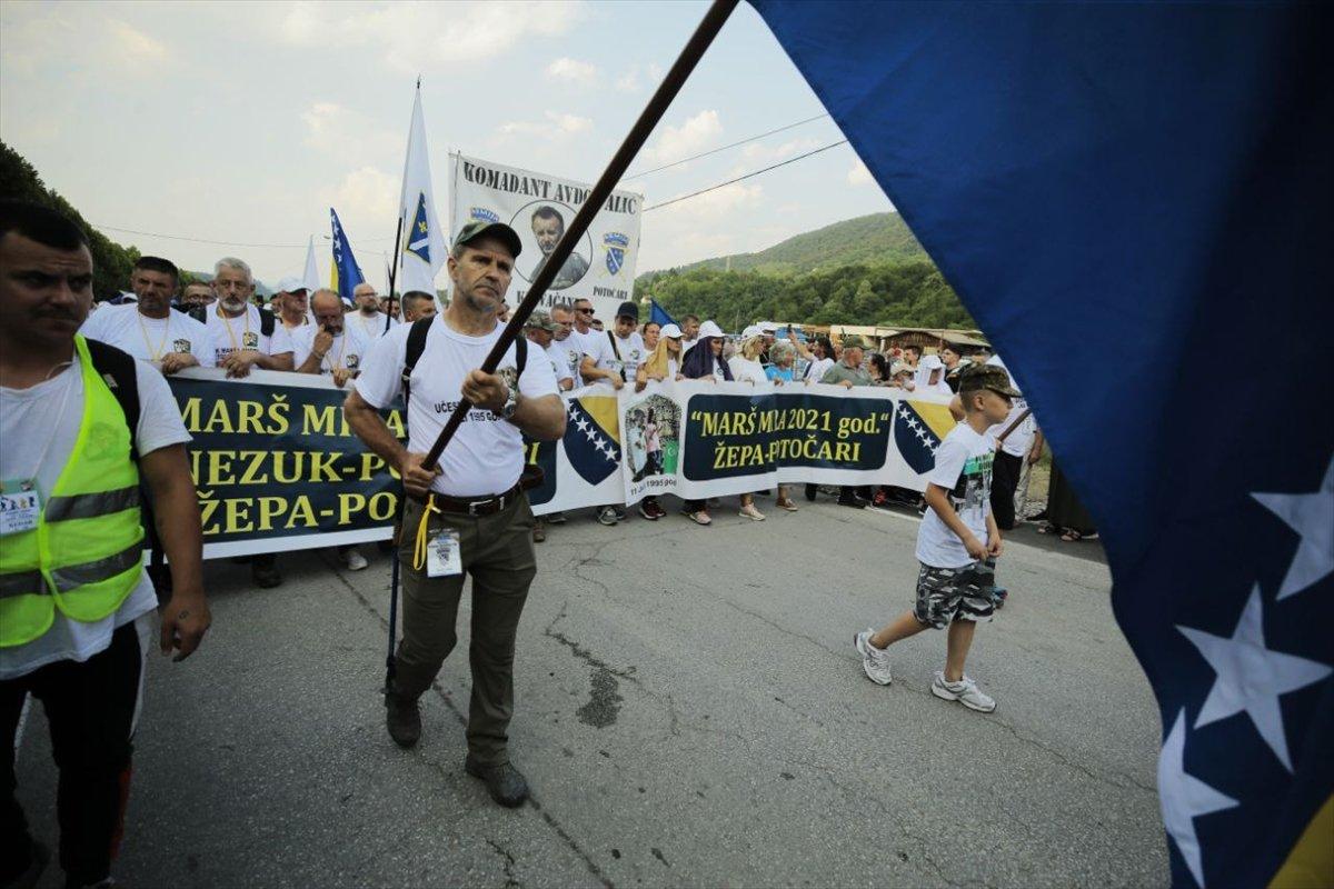 Binlerce Boşnak ın hayatları için çıktığı  ölüm yolu nda 26 yıl sonra  Barış Yürüyüşü  #1
