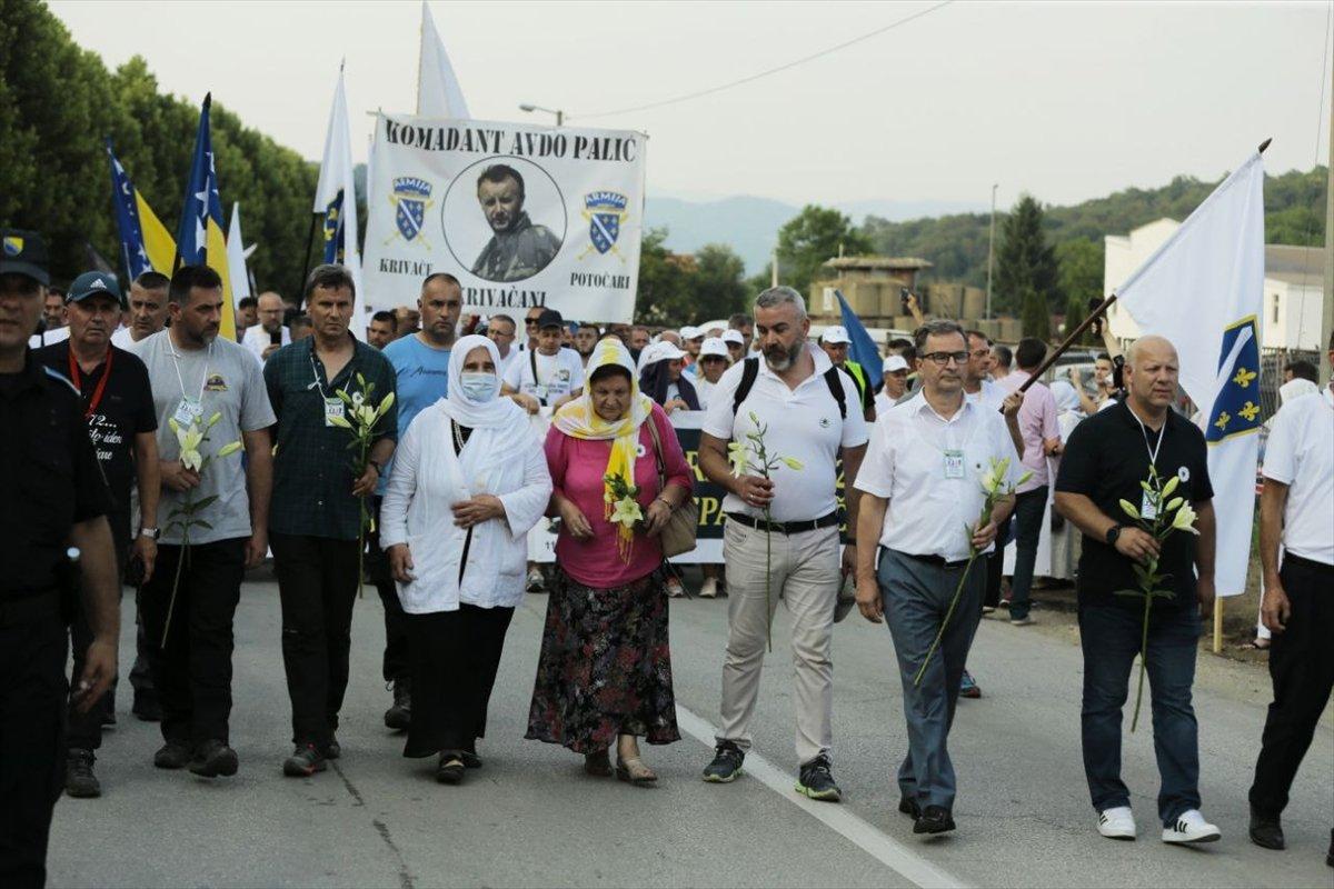 Binlerce Boşnak ın hayatları için çıktığı  ölüm yolu nda 26 yıl sonra  Barış Yürüyüşü  #5