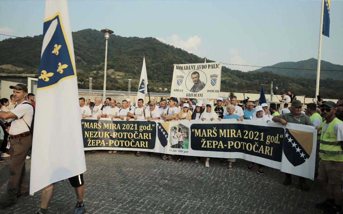 Binlerce Boşnak ın hayatları için çıktığı  ölüm yolu nda 26 yıl sonra  Barış Yürüyüşü  #3