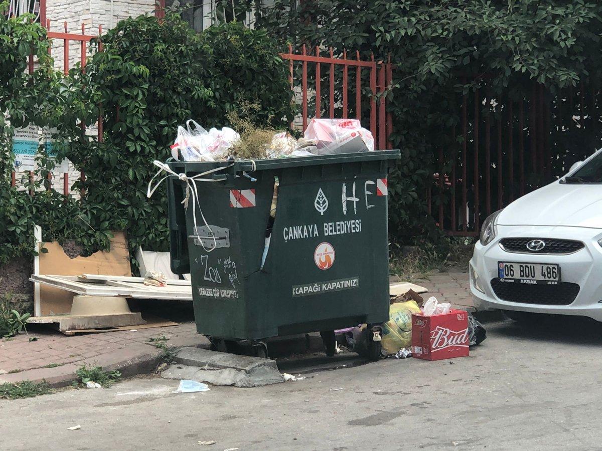Çankaya da sokaklar çöp yığınlarıyla doldu #3