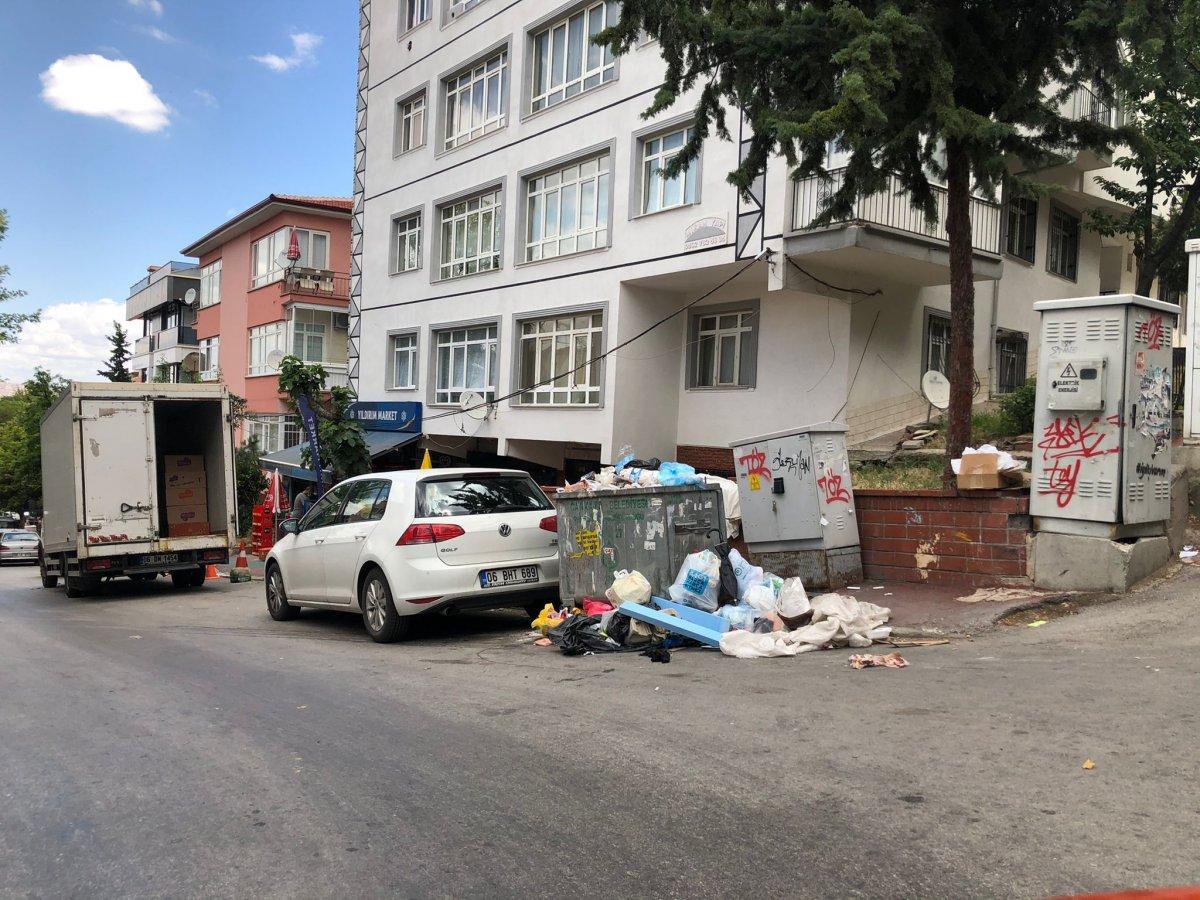 Çankaya da sokaklar çöp yığınlarıyla doldu #5