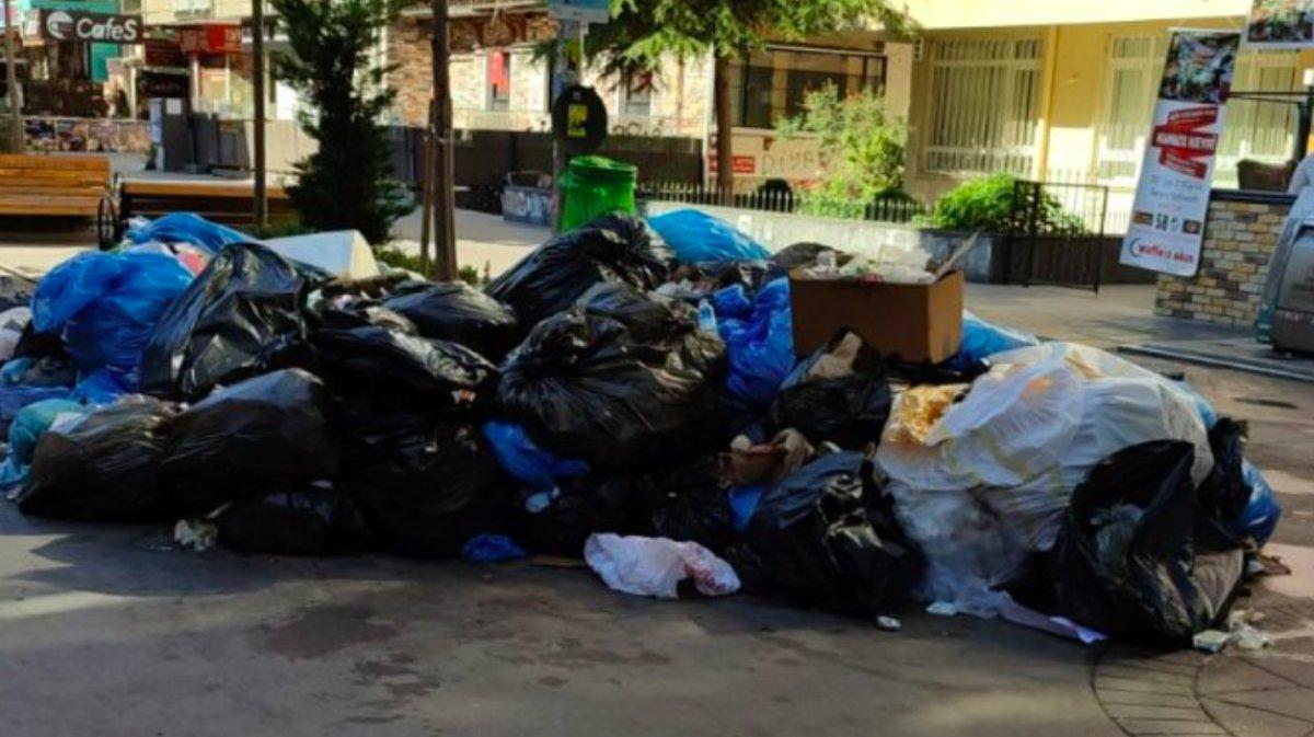 Çankaya da sokaklar çöp yığınlarıyla doldu #10