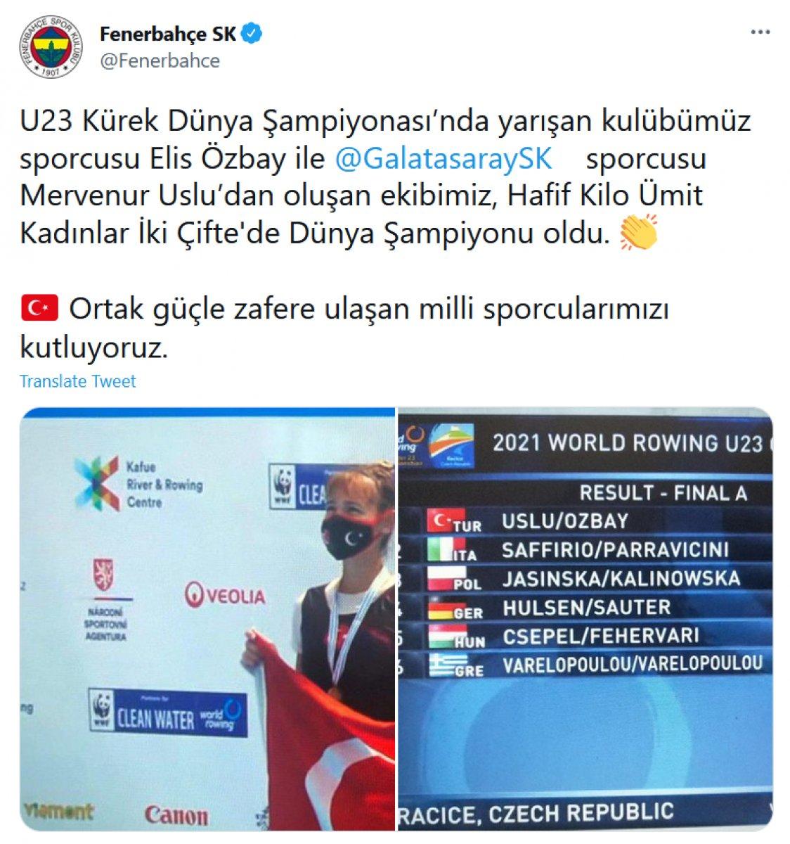 Galatasaray ve Fenerbahçe den ortak paylaşım #2