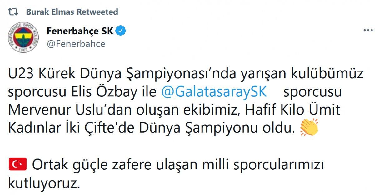 Galatasaray ve Fenerbahçe den ortak paylaşım #3