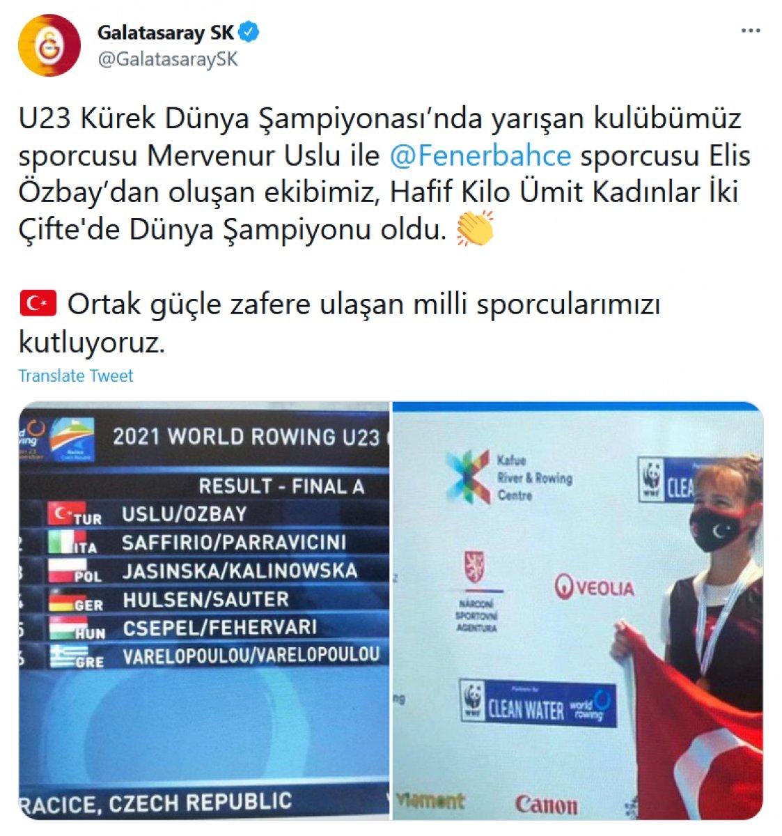 Galatasaray ve Fenerbahçe den ortak paylaşım #1