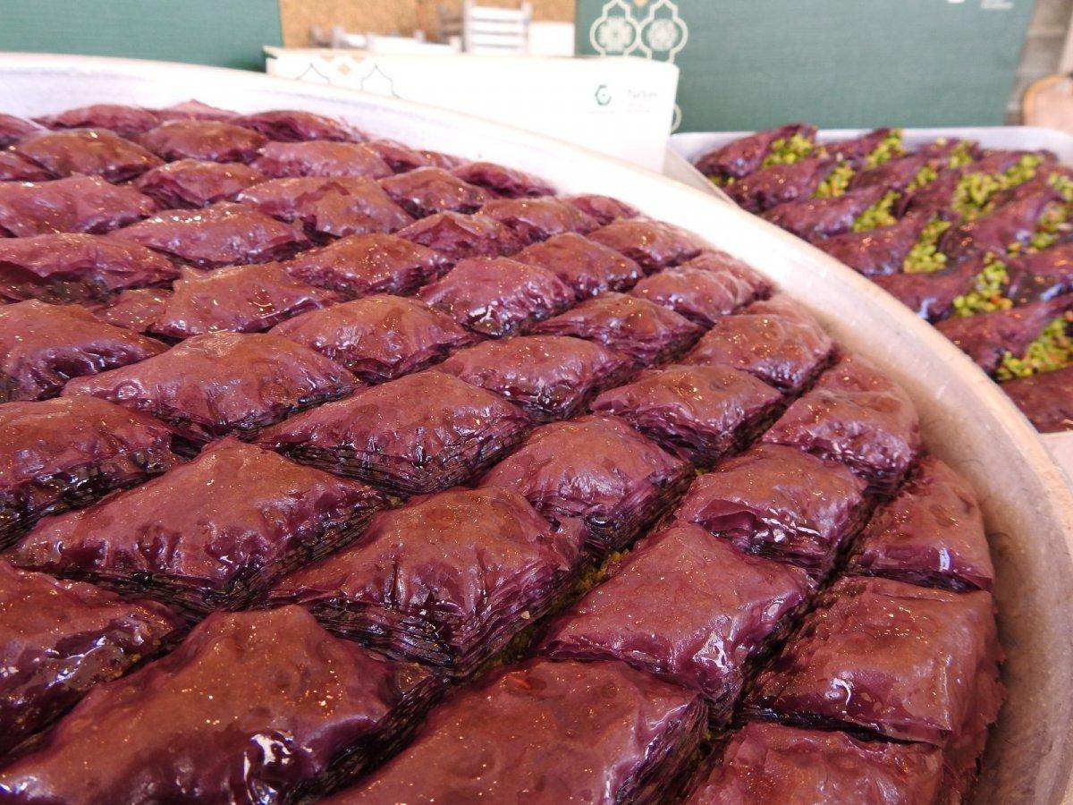 Gaziantep te şeker hastalarına özel mor baklava #6