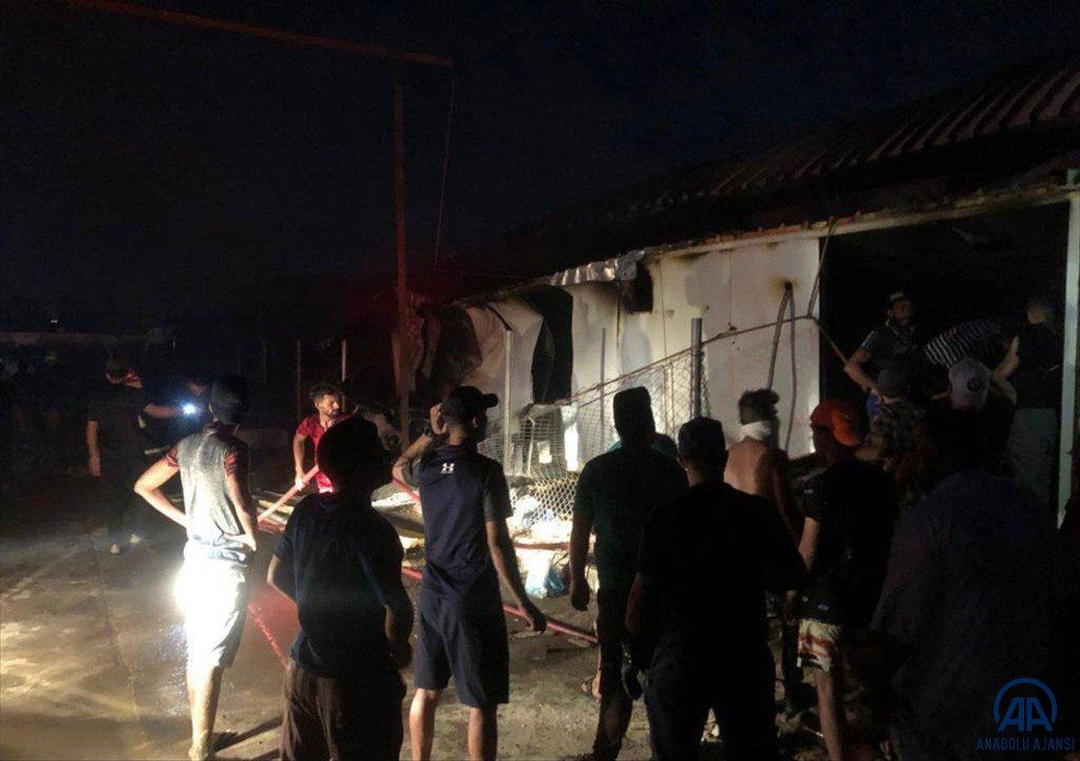 Irak ta koronavirüs hastalarının kaldığı hastanede yangın #1