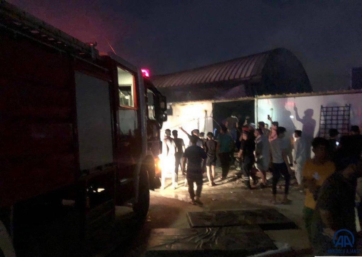 Irak ta koronavirüs hastalarının kaldığı hastanede yangın #3