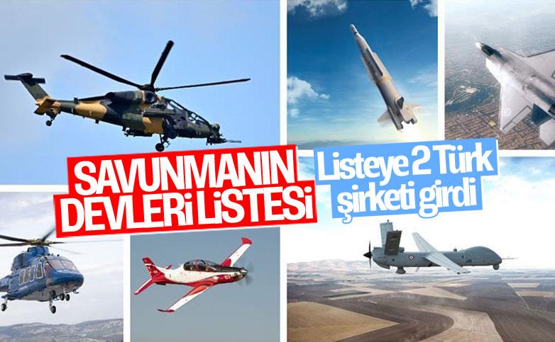 İki Türk şirketi 'savunmanın devleri' listesinde