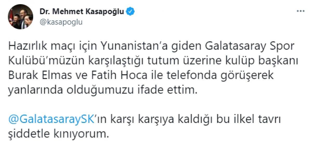 Yunanistan da Galatasaray ı şaşkına çeviren tavır  #4