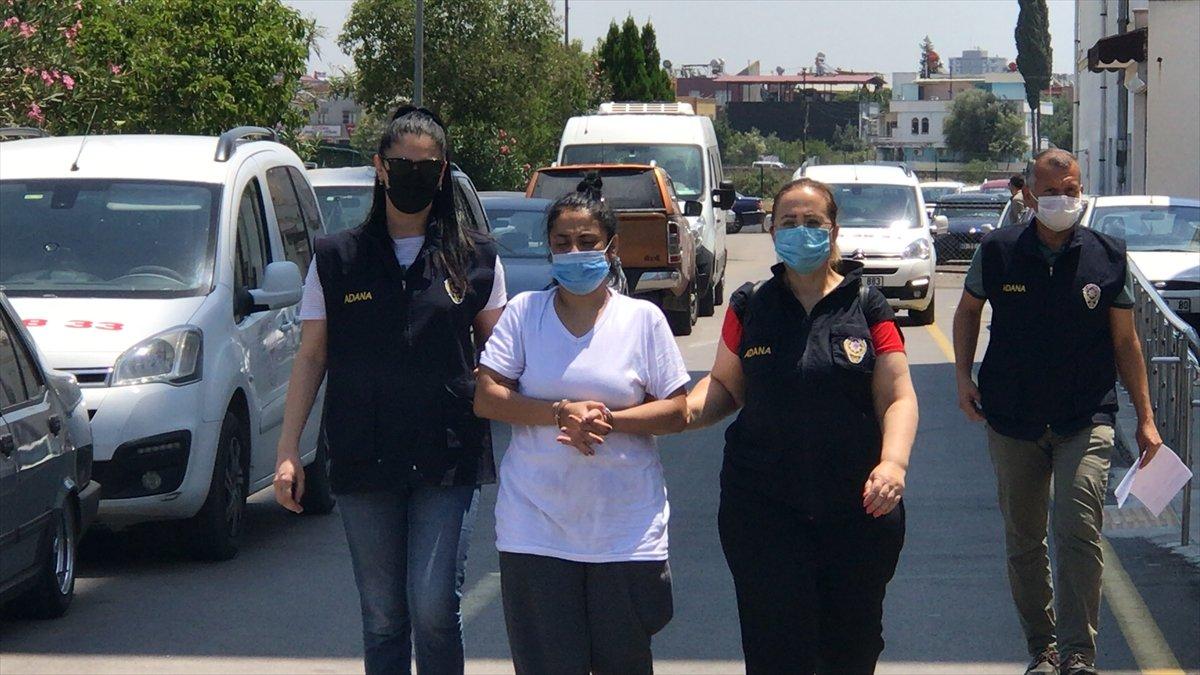 Adana da Türk bayrağını koparan kadın tutuklandı #3